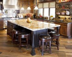 Inspiration for kitchen island with seating custom with Small kitchen furniture Rustic Kitchen Island, Rustic Kitchen Design, Kitchen Island With Seating, Kitchen Islands, Kitchen Designs, Wooden Kitchen, Home Design, Design Ideas, Interior Design