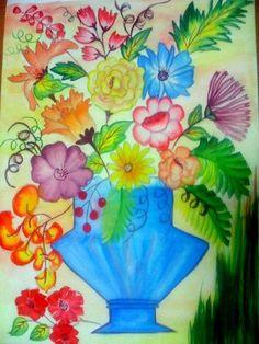 flower paintings in vases - Google Search