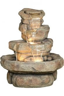 "Balanced Rock Garden Waterfall 45"""