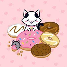 Kuroi!! Giant Donuts!! ♡ \ (¯ ▽ ¯) / ♡