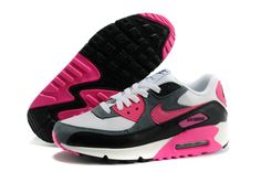 info for 4ca64 d3b06 Ladies Nike Air Max 90 in White, Grey, Black and Pink Zapatos Nike,