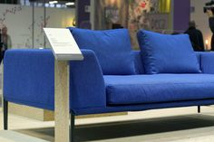 NOTI sofa   SOSA collection   design by #PiotrKuchcinski #upholstered #2-seater #loft #SoftSofa #HotelFurniture #modern #elegant #LongLegs #blue #sofa