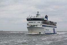 ms Friesland, de grootste veerboot van Rederij Doeksen. Het schip vaart de lijn Harlingen-Terschelling vv.