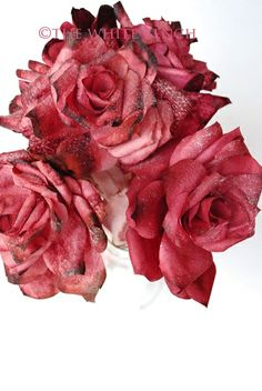 Coffee filter roses with tutorial (from The White Bench)