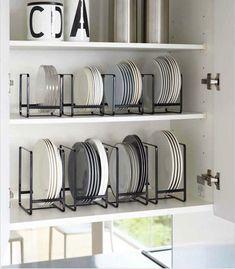 Kitchen Organization For Small Spaces, Kitchen Pantry Design, Kitchen Organization Pantry, Home Organisation, Diy Kitchen Storage, Home Decor Kitchen, Kitchen Interior, Home Kitchens, Organization Hacks