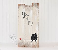 You and Me Sign Wood Signs Reclaimed Wood por LindaFehlenGallery