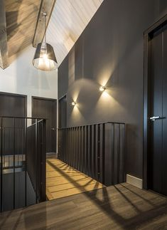 Grey Woodwork, Room Setup, House 2, White Walls, Bed And Breakfast, Black House, Future House, Home Improvement, Wall Lights