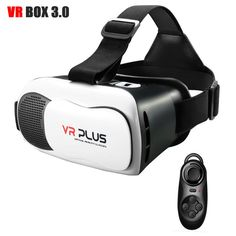 VR BOX VR Plus Virtual Reality Goggles Coating Glass Lens Helmet Glasses Headset for Bluetooth Remote Virtual Reality Goggles, Vr Box, Bluetooth Remote, 3d Glasses, Vr Headset, Wearable Technology, Fitbit, Helmet, Lens