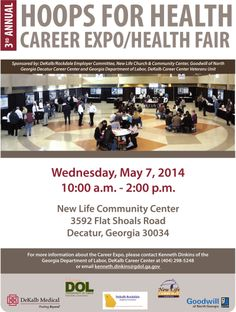 Join us at the 3rd Annual Hoops for Health Career Expo/Health Fair!