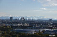 München und der Blick auf die Alpen