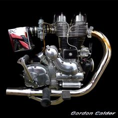 ◆ Visit MACHINE Shop Café ◆ (No. 109 ~ ROYAL ENFIELD BULLET SIXTY-5 MOTORCYCLE ENGINE, by Gordon Calder, via Flickr, 3,000,000 Views!)