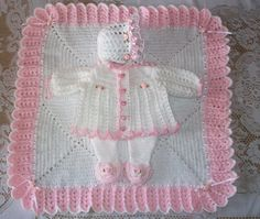 This Crochet Baby Girl Sweater Set Layette with Fancy Feet Leggings, Bonnet and Blanket Perfect for Baby Shower Gift or Coming Home Outfit is just one of the custom, handmade pieces you'll find in our clothing sets shops. Bag Crochet, Baby Blanket Crochet, Crochet Baby, Baby Shower Gifts, Baby Gifts, Baby Shawl, Baby Girl Sweaters, Shower Bebe, Take Home Outfit