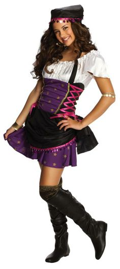 A cute costume for a little gypsy