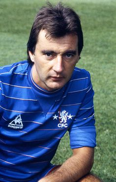 Portrait of Chelsea player Alan Hudson taken during a Chelsea Football Club Portrait Session held in August 1983 at Stamford Bridge in London England Chelsea Fc, Chelsea Football Club, Chelsea Players, Chelsea Boots, Fc 1, Retro Football, Stamford Bridge, London Photos, West London