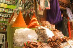 Spice markets in Marrakech, Morocco