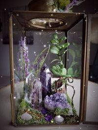 Healing Crystal Garden Terrarium A new crystal garden has just hit the shop! Diy Garden Decor, Diy Home Decor, Garden Ideas, Garden Art, Room Deco, Crystal Aesthetic, Crystal Garden, Crystal Terrarium Diy, Deco Nature