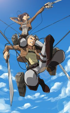 Conny Springer and Sasha Braus (Attack on Titan)