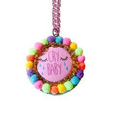 cry baby pom pom collier / collier ou broche par dannybrito sur Etsy