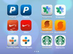 iOS 6 > iOS 7 — App Icons 3 / Hüseyin Yilmaz