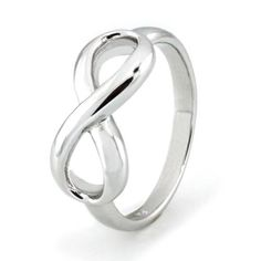 Silver 925 Infinity Ring 1.50 Grams by CityStylePiercing on Etsy, $12.00