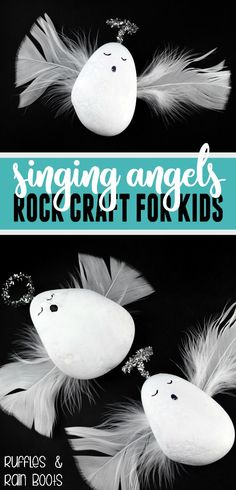 Rock Angels craft for kids - this beginner rock pa…