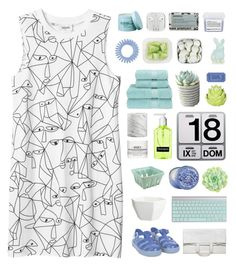 """「04.」"" by moonbeam-s ❤ liked on Polyvore featuring Monki, Zara Home, WALL, The Body Shop, CB2, Christy, Maison Margiela, Crate and Barrel, Danese and Kiehl's"