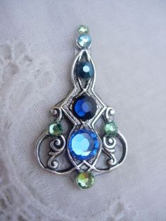 Blueberry Tendril Bindi  swarovski crystal belly by KuhlJewels, $15.00