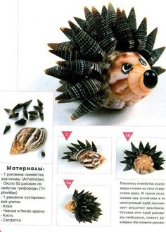 Поделки из ракушек, как сделать своими руками, фото Seashell Ornaments, Seashell Art, Seashell Crafts, Snowman Ornaments, Sea Crafts, Nature Crafts, Shell Animals, Glass Art Pictures, Mermaid Art