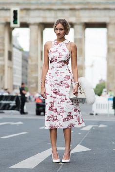 Carven dress - Street Style, Berlin.