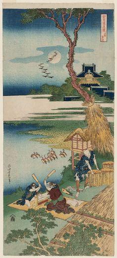 Katsushika Hokusai: Ariwara Narihira, from the series A True Mirror of Chinese and Japanese Poetry (Shika shashin kyô), also called Imagery of the Poets - Museum of Fine Arts