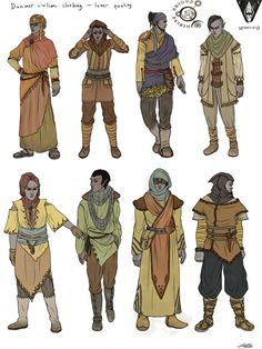 Morrowind - Dunmer clothing designs by Lostowls on DeviantArt Fantasy Character Design, Character Design Inspiration, Character Concept, Character Art, Concept Art, Elder Scrolls, Dnd Characters, Fantasy Characters, Watercolor Art