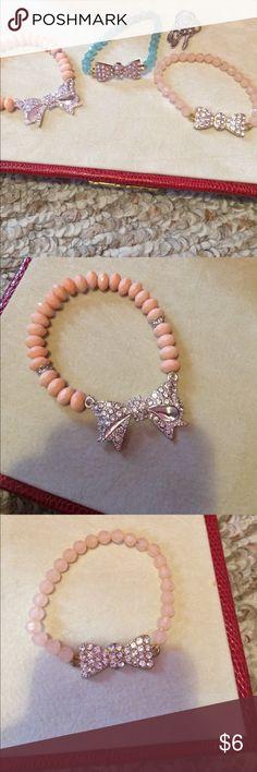 Bow bracelet bundle + dream catcher ring All in great condition Rue21 Jewelry Bracelets
