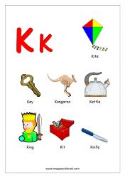 Free Printable English Worksheets - Alphabet Reading (Letter Recognition And Objects Starting With Each Letter) - MegaWorkbook Alphabet Phonics, Alphabet Charts, Alphabet Worksheets, Alphabet Activities, Printable Alphabet, Printable English Worksheets, English Worksheets For Kindergarten, Preschool Worksheets, Free Printable