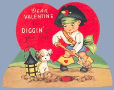 Vintage Pirate Valentine Puppy Love