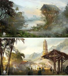 Assassin's Creed IV Black Flag, por Donglu Yu | THECAB - The Concept Art Blog