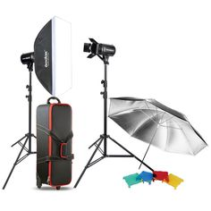 Godox 500W Studio Flash Lighting Photography Umbrella Softbox Strobe Light Kit