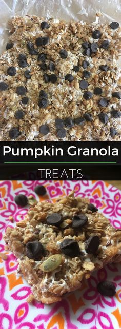 Remix traditional marshmallow crispy treats with pumpkin granola! So delicious and easy to make - no baking necessary. | Clearly Organic