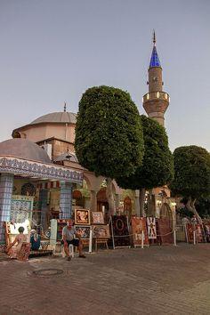 Bazaar and Mosque - Side, Antalya, Turkey