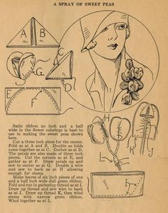Home Sewing Tips from the 1920s - Craft a Spray of Sweet Peas