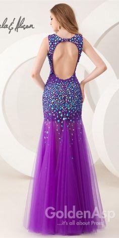 Trendy Tulle Hemline Dress Angela and Alison 41025 Open Back Prom Dresses, Formal Dresses, Prom 2015, Pennsylvania, Illusion, Dresses Online, Hemline, Fashion Dresses, Tulle