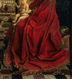 RED Van Eyck at the Louvre in Paris - via MuseeLouvre on Twitter. #MuseumRainbow