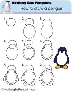 How to draw a penguin - more advanced