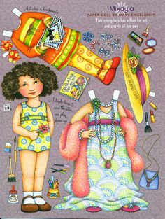 Paper Doll by Mary Engelbreit -Mikayla Plays Dress-Up