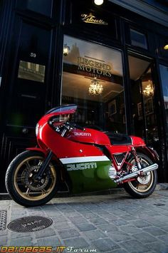 Vintage Ducati with some historical significance, fairing covers more than I want (Mike Hailwood Ducati)