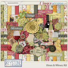GingerScraps :: Kits :: Vines & Wines Kit -- Keystone Scraps