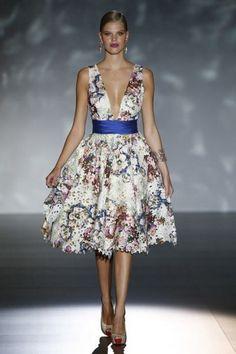 Vestido de boda con flores