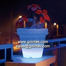 Evening Party Decoration Lighting Led Plastic Pot