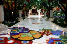 I fell in love with the mosaic tile work at the Wynn. Gotta have this in a funky little bathroom someday!!