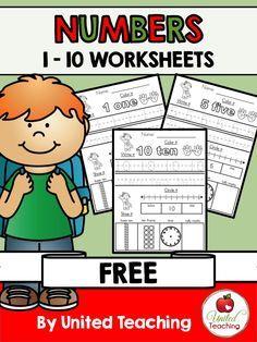 FREEBIE: Numbers 1 - 10 Worksheets Packet