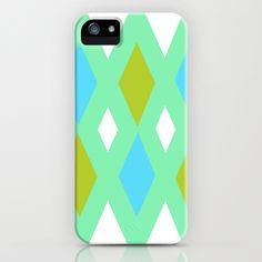 Retro Diamonds II iPhone Case
